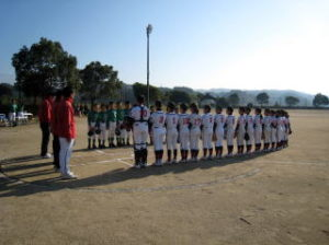 第38回ライオンズ旗争奪少年野球大会 開会式の様子